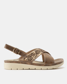 Butterfly Feet Shifa Lasered Sandals Brown