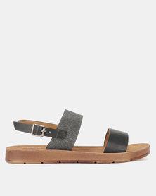 Butterfly Feet Mila Flat Sandals Black