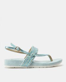 Butterfly Feet Lysa Metallic Sandals Turquoise