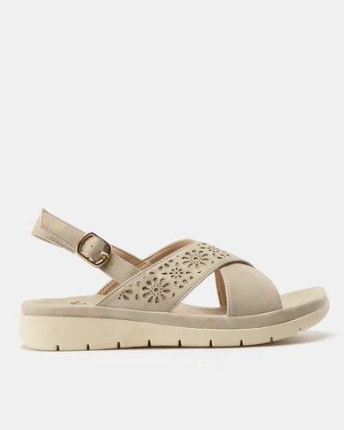 Butterfly Feet Shifa Lasered Sandals Beige