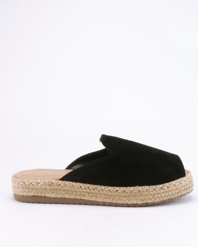5a5ab9ddb38f G Couture Espadrille Slide Sandals Black