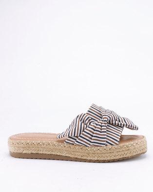 e757acbc9c93b3 G Couture Espadrille Bow Sandals Stripe
