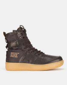 Urbanart Force 2 Wax/Nyl Hi-Top Sneakers Black