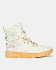 Urbanart Force 2 Wax/Nyl Hi-Top Sneakers Ivory