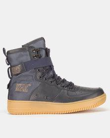 Urbanart Force 2 Wax/Nyl Hi-Top Sneakers Navy