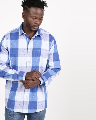 JCrew Check Fancy Formal Shirt Blue
