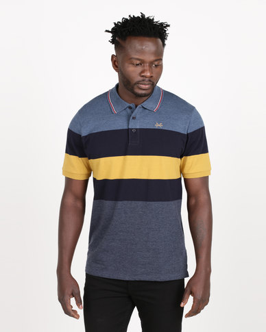 JCrew Broad Stripe Golfer Navy