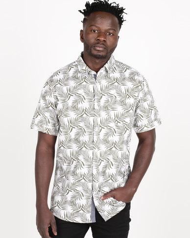 JCrew Short Sleeve Voil Printed Shirt Natural