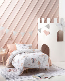Linen House Enchanted Duvet Cover Set Peach