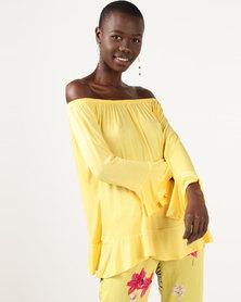 Slick Jessica-Boho Styled Top Lemon