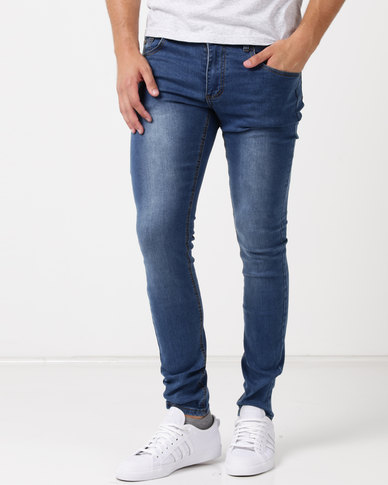 Soviet M Hove Skinny Leg Denim Jeans #4 Indigo