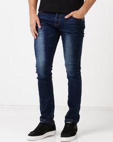 Soviet M Base #12 Mens Straight Leg Denim Jeans Dark Indigo