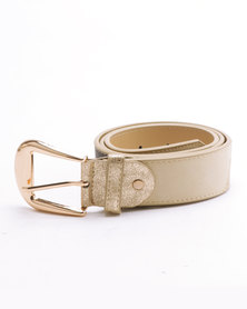 Queenspark Classic Patch Belt With Soft Gold Keeper Multi