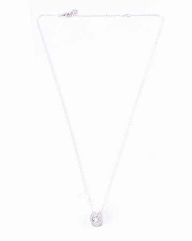 Lily & Rose Cubic Zerconia Lucky Necklace Silver