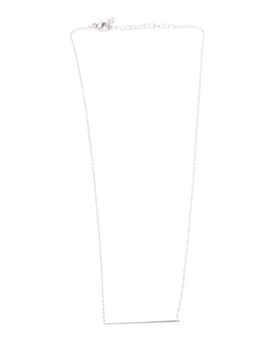 Steel My Heart Steel Minimal Necklace And Earring Set Silver