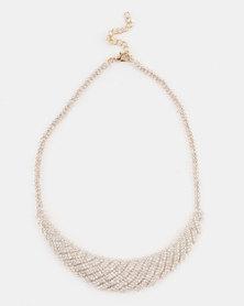 Adoria Rhinestone Necklace Gold-tone