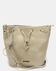 Bossi Gabuc Drawstring Bucket Cross Body Bag Green