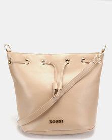 Bossi Gabuc Drawstring Bucket Cross Body Bag Beige