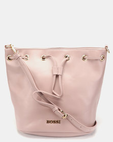 Bossi Gabuc Drawstring Bucket Cross Body Bag Pink