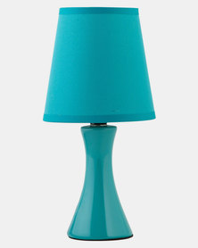 Eurolux Ceramic Table Lamp Twin Pack Teal