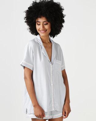 06eb663d31 Lila Rose Short Sleeve Shorts Set Grey