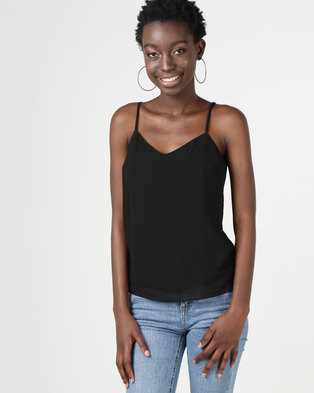 New Look Strappy Back Cami Black