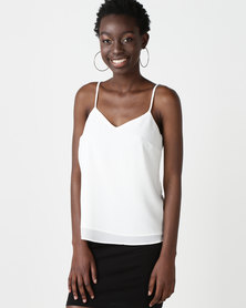 New Look Strappy Back Cami Off White