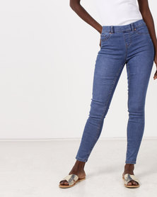 New Look Rinse Wash Emilee Jeggings Blue