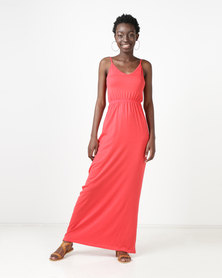 New Look Jersey V-Neck Maxi Dress Red