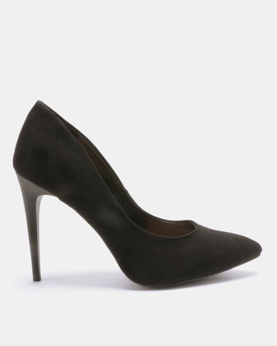 New Look Yummy Suedette Pointed Court Shoes Black