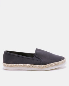 New Look Meva Canvas Slip On Espadrilles Navy