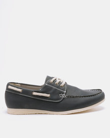 New Look Boat Shoes Navy