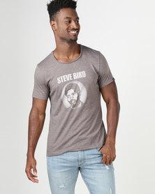 Krag Drag™ - The Strong One™ Steve Biko T-Shirt Brown/Mocca Melange