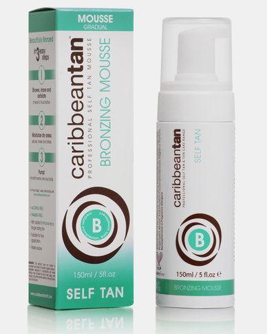 Caribbean Tan Bronzing Mousse B Medium Blue