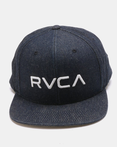 reputable site 3db2a 13ed2 RVCA Twill Snapback II Blue   Zando