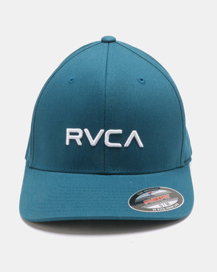 RVCA Flexfit Blue