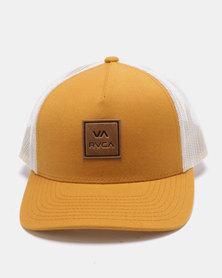 RVCA VA All The Way Curved Brim Trucker Cap Yellow