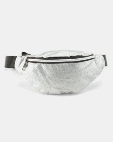 Unseen Glitteratti  Bum Bag Silver