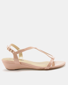 Staccato Wedge Sandals Pearlised Rose