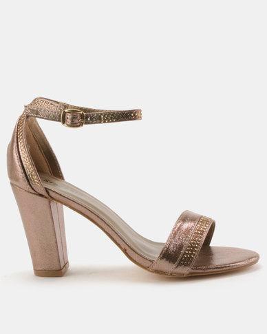 Staccato Evening Sandals Metallic Bronze