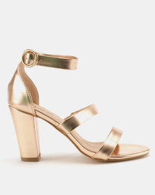 Staccato Fashion Sandals Metallic Rose Gold