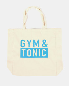 Fineapple Giant Gym & Tonic Sports Tote Neutral/Blue