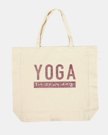 Fineapple Giant Yoga Tote Rose Gold