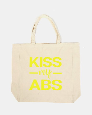 Fineapple Giant Kiss My Abs Sports Tote Yelllow