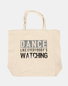 Fineapple Giant Dance Like Everybodys Watching Tote Silver
