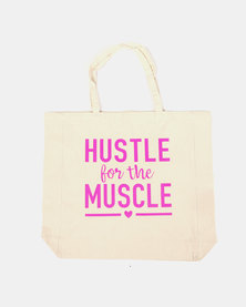 Fineapple Giant Hustle For The Muscle Sports Tote Pink