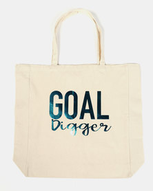 Fineapple Giant Goal Digger Sports Tote Blue