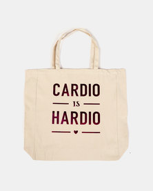 Fineapple Giant Cardio Is Hardio Sports Tote Pink