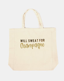 Fineapple Giant Sweat For Champagne Tote Gold