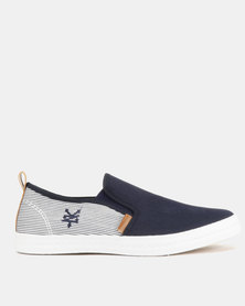 Zoo York Colourblock Plimsoll Slip Ons Navy